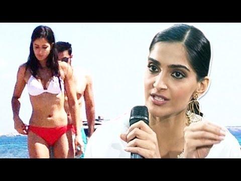 Sonam Kapoor reacts on Ranbir Kapoor & Katrina Kaif's bikini pictures of Spain