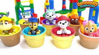 Giant Paw Patrol Marble Maze! Best Learning Videos for Kids! Teach Colors Educational Toddler Movie!