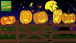 Five Little Pumpkins Sitting on a Gate - Halloween songs for kids cartoon YouTube video