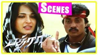 Bhadra Tamil Movie Scenes | Anushka meets Mahesh Babu at Rajasthan | Sunil | Ali