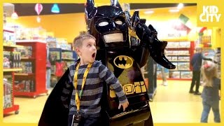 Giant Lego Batman Movie Unboxing with Batman Surprise Toys | KIDCITY