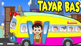 Tayar Bas Berpusing - Pusing | Lagu Kanak Kanak Melayu Malaysia | Wheels on the bus rhyme Malay