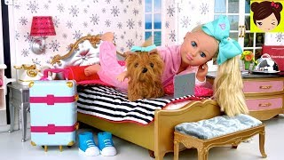 Muñeca Jojo Siwa Rutina de Viaje en Hotel de America Girl - Los Juguetes de Titi