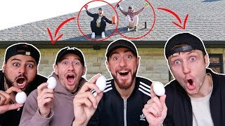 Insane Egg Drop Science Experiment Challenge!