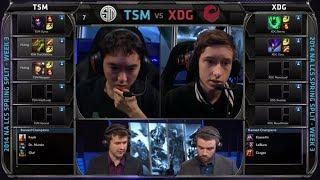 TSM vs XDG | 2014 NA LCS Spring split S4 W3D1 G1 | XDG vs TSM | TSM vs XD.GG full game HD