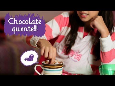 Como fazer chocolate quente com a Amanda Furtado ❤ Mundo da Menina
