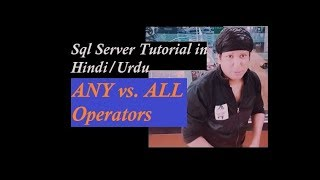 SQL Server ANY and ALL Operators Explain in Hindi