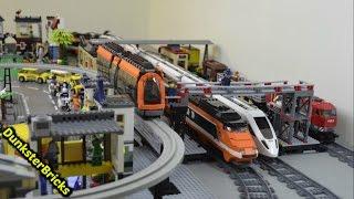 LEGO Train Track Layout with 7 Foot MOC Bridge, Big Station and Custom Monorail!