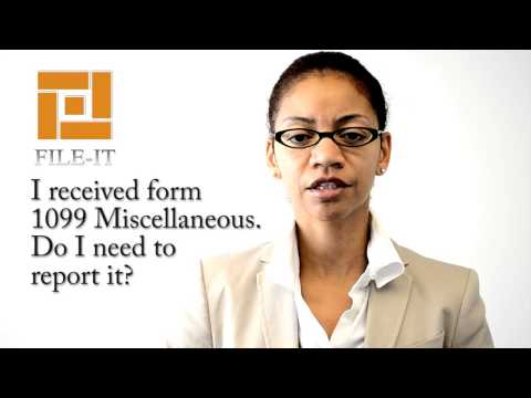 I received form 1099 Miscellaneous.  Do I need to report it? File-It Inc. Houston Tax Tips