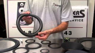 Speaker Repair Foam Edge Styles and Sizes for Speakers by Simply Speakers
