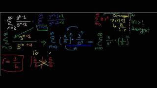 Infinite Series ( Geometric Series ) |كالكولس 2  بالعربي | شرح سلسلة هندسية