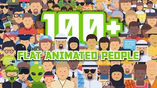 100+ Flat Animated Icons (People) Available on VideoHive