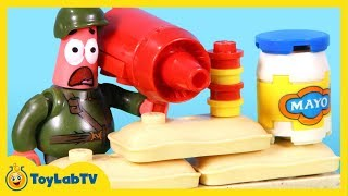 SpongeBob Sponge Out of Water Toys with Mega Bloks Photo Booth Time Machine & Pickle Tank Toy