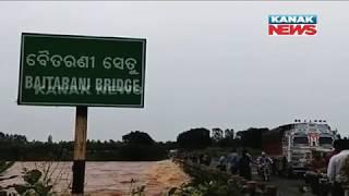 Water Level Heading Towards Danger Mark In Baitarani River