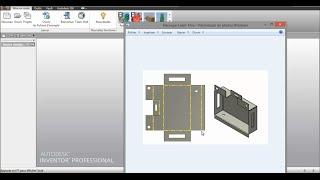 Tuto-38 Autodesk Inventor 2014  La tôle n°1