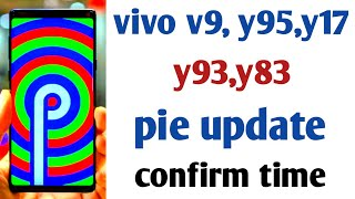 Vivo smartphone Android p update | vivo v9,y95,y17,y93,y83 Android p update good news |