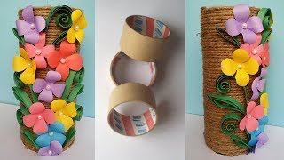 How to Make Best out of waste Flower vase !!! Jute/Twine  Flower Vase !!!! Unique