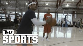 Allen Iverson Practices for Debut of Ice Cube