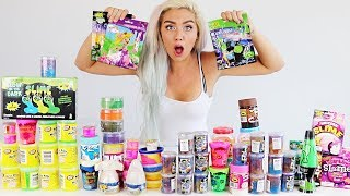 Mixing ALL My Slimes Into A Giant Slime Smoothie! SO SATISFYING | NICOLE SKYES