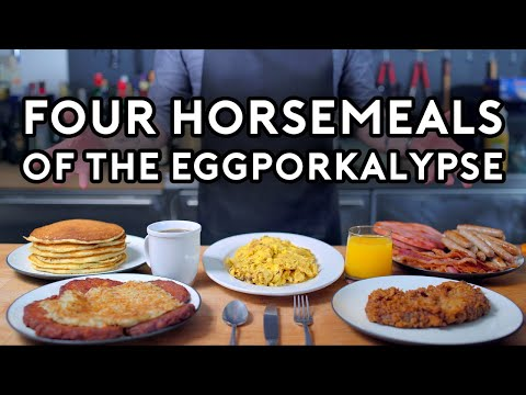 Binging with Babish Four Horsemeals of the Eggporkalypse from Parks & Rec