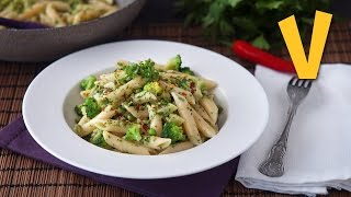 One-Pot Pasta Broccoli and Peas