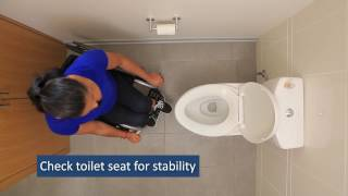 Bathroom Transfers:  SCI Empowerment Project Wheelchair Skills Video 19