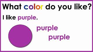 Colors   What Color Do You Like?    English Speaking Practice   ESL   EFL
