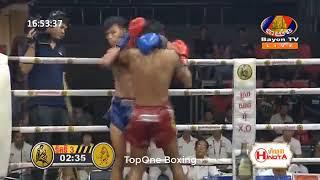 អ៊ូច ធារិទ្ធ ប៉ះ អប់សាយ | Ouch Thearith (Cam) Vs Offsai (Thai), Khmer Boxing 2019