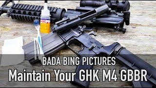 Maintain Your GHK M4 Gas Blowback Rifle