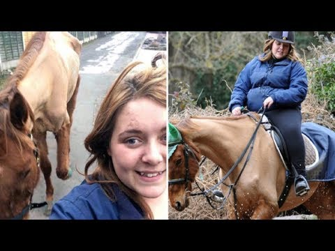 Xxx Mp4 Cruel Woman Posts Selfie With A Skeletal Horse Then Gets Banned From Keeping Horses 3gp Sex