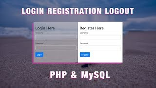 How To Make Login & Registration Form In PHP And MySql, Create SignIn & SignUp Page