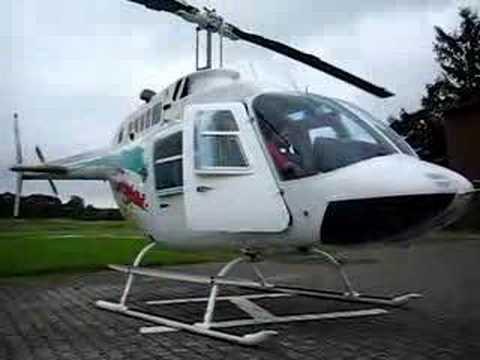 Engine Start Up Bell 206 JetRanger from outside
