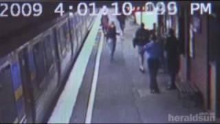 Baby in pram hit by train - survives uninjured.