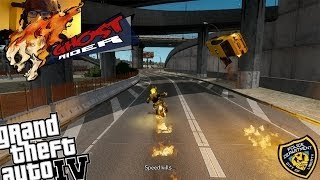 GTA IV + Webcam LCPDFR Ghost Rider Mod Police Patrol - Episode 15 - Ghost Rider Finds New Hat