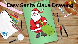 Easy Santa Claus Drawing | Christmas Special | Kids Learning Videos (HD)