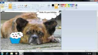 Make a greeting card using Paint