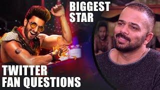 """Ranveer Singh Will Be The BIGGEST Star Amongst…"": Rohit Shetty | SRK | Twitter Fan Questions"