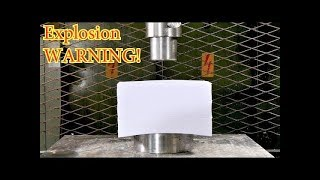 Crushing 1500 sheets of Paper with Hydraulic Press