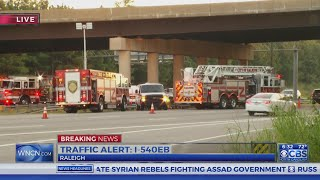 1 dead after truck slams into barrier on I-540