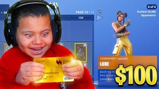 Kid Spends $100 On Season 8 *MAX* Battle Pass With Brother's Credit Card (Fortnite)
