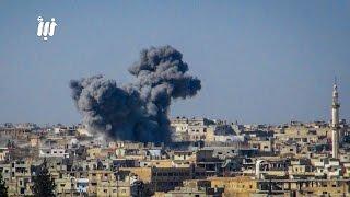 بمنتهى الوضوح، مروحيات النظام تمطر أحياء درعا البلد بالبراميل المتفجرة 25-2-2017