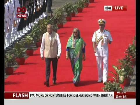 Xxx Mp4 Goa Bangladesh S Prime Minister Sheikh Hasina Arrives At Airport 3gp Sex