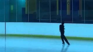 Boy figure skating level 6 competition