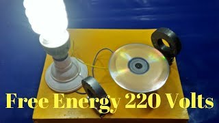 Make Free Energy Generator with Magnet Output 220 Volts Light Bulb