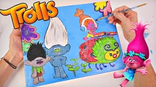 Trolls Movie Coloring and Painting | Dreamworks DIY Troll Art Part 2