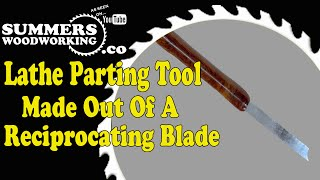 How To Make A Lathe Parting Tool -Reciprocating Blade