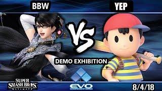 Evo Demo SSBU - BBW (Bayonetta) Vs. Dath (Ness) Smash Ultimate