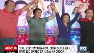 Cebu Rep  Gwen Garcia, idiniin si Ret  Gen  Marcelo Garbo sa iligal na droga - HD