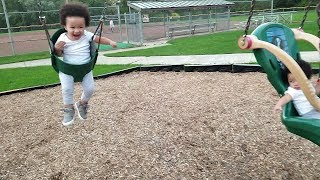 Outdoor Playground Family Fun Playtime for Kids with Imani and The Twins