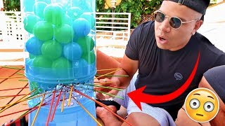 IMPOSSIBLE GIANT KERPLUNK CHALLENGE!!! (FIRST TO DROP THE BALL LOSES)